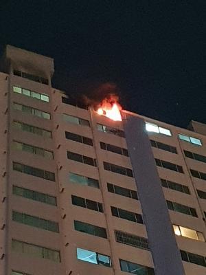 부산 광안동 같은 아파트서 두차례 불...주민 150여 명 대피